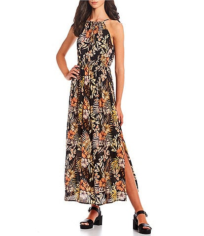 Rip Curl Paradise Calling Printed Relaxed-Fit Long Dress