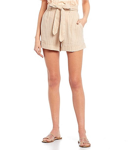 Rip Curl The Nomadic High Rise Belted Waist Cuffed Shorts
