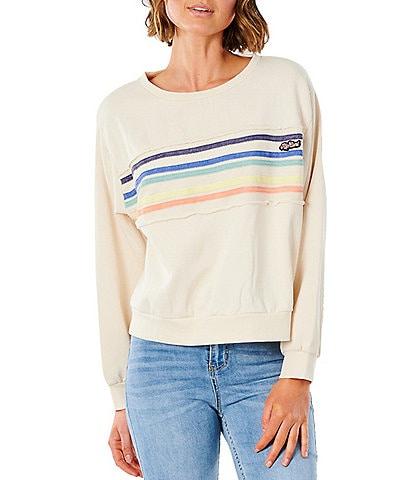 Rip Curl Tiki Stripe Crewneck Sweatshirt