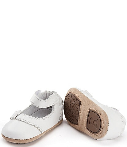Robeez Baby Girls' 3-24 Months Faux-Leather Mary Jane Crib Shoes
