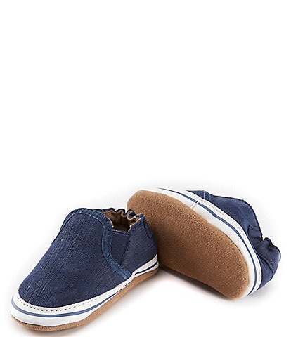 Robeez Liam Suede Slip-On Soft Sole Crib Shoes
