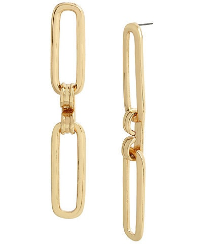 Robert Lee Morris Soho Geometric Link Dangle Earrings