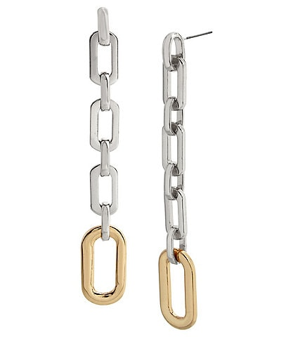 Robert Lee Morris Soho Geometric Link Linear Earrings