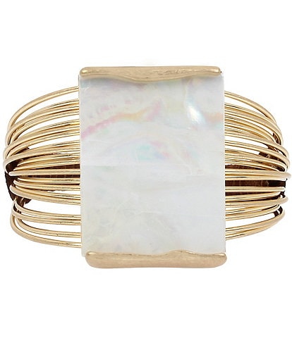 Robert Lee Morris Soho Geometric Multi Row Cuff