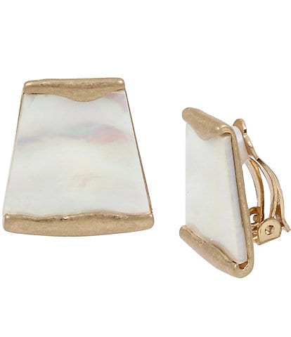 Robert Lee Morris Soho Geometric Stone Clip-On Earrings