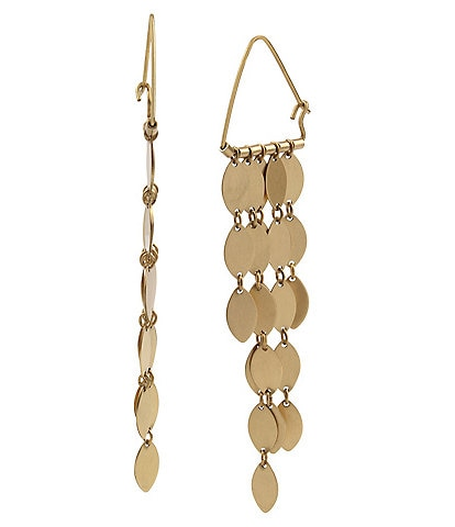 Robert Lee Morris Soho Oval Disc Fringe Chandelier Earrings