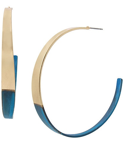 Robert Lee Morris Soho Patina Curved Hoop Earrings