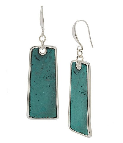 Robert Lee Morris Soho Patina Geometric Drop Earrings