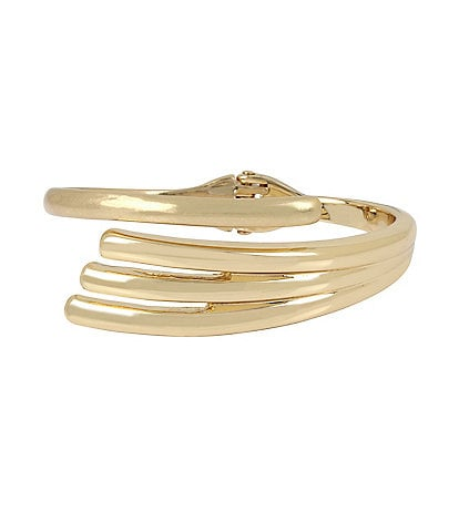 Robert Lee Morris Soho Sculptural Bypass Hinged Bangle Bracelet