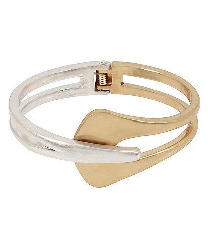 Robert Lee Morris Soho Sculptural Hinged Bangle Bracelet