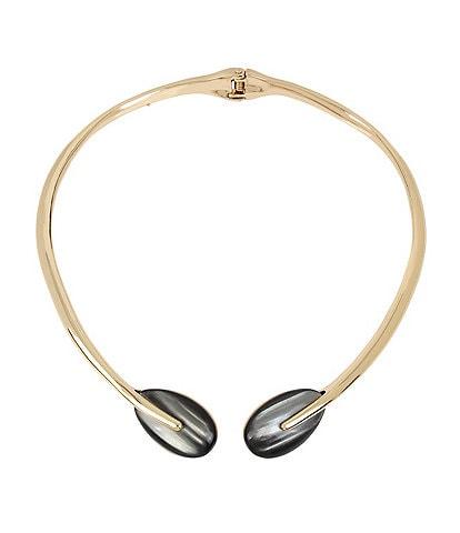 Robert Lee Morris Soho Teardrop Stone Hinged Collar Necklace