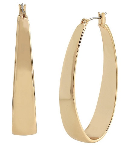 Robert Lee Morris Soho Thick Oval Hoop Earrings