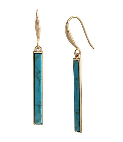 Robert Lee Morris Soho Turquoise Stone Drop Earrings