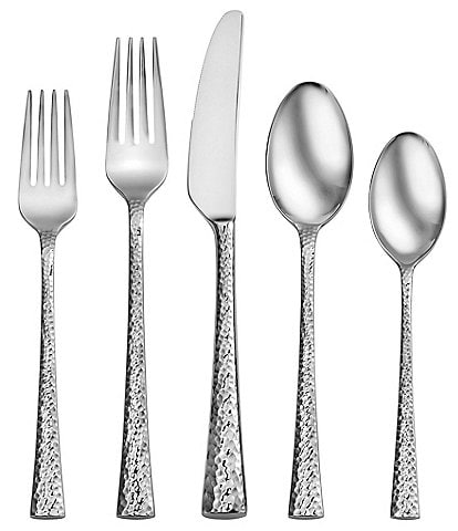 Robinson South End 65-Piece Stainless Steel Flatware Set