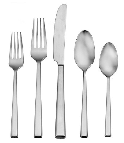 Robinson Wynn 20-Piece Stainless Steel Brushed Finish Flatware Set