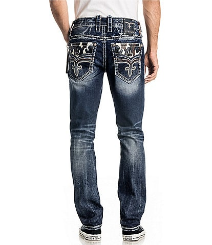 Rock Revival Mid-Rise Coren Alternate Straight Jeans