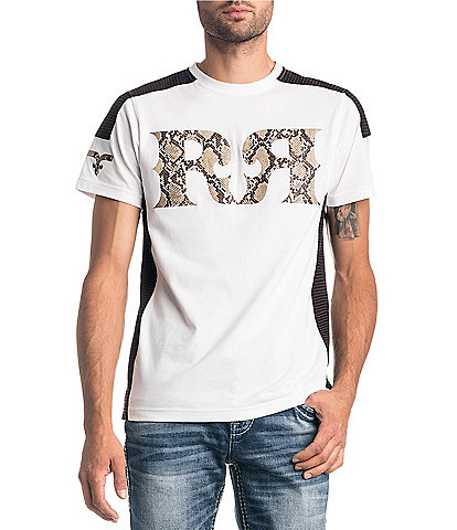 Rock Revival Short-Sleeve RR Logo Snake Print Graphic T-Shirt