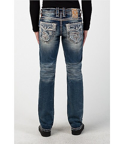 Rock Revival Storm Gray J201 Straight Fit Jeans