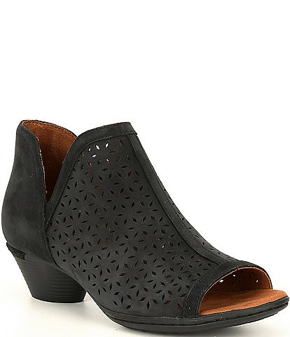 Rockport Cob Hill Laurel Perforated Leather Ankle Shooties