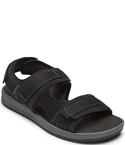 Rockport Men's Lucky Bay Sport 3 Strap Suede Sandals