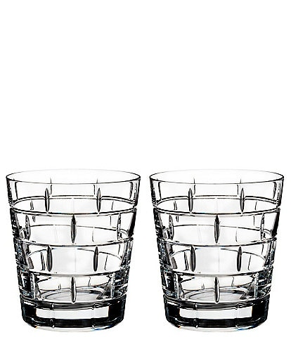 Rogaska Quoin Double Old-Fashioned Glasses, Set of 2