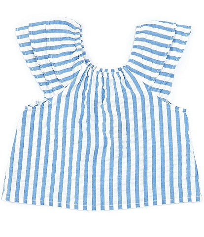 Roller Rabbit Baby 12-24 Months Ruffle-Sleeves Stripe Lavella Matching Top