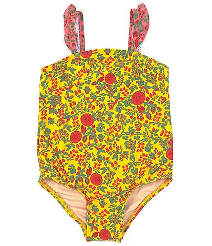 Roller Rabbit Baby Girls 12-24 Months Floral One-Piece Swimsuit