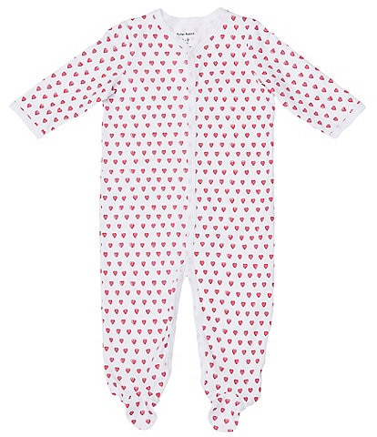 Roller Rabbit Baby Girls Newborn-9 Months Hearts Matching Footed Sleeper