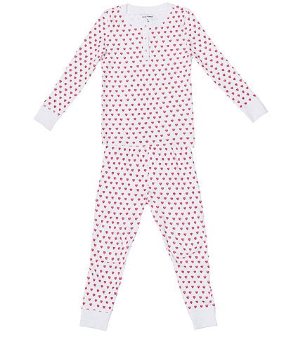 Roller Rabbit Baby/Little Girls 12 Months-6 Hearts 2-Piece Matching Pajama Set