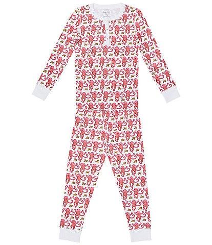 Roller Rabbit Baby/Little Kids 12 Months-6 Monkey 2-Piece Family Matching Pajama Set