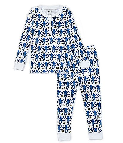 Roller Rabbit Baby/Little Kids 12 Months-6 Monkey 2-Piece Family Matching Pajama Set