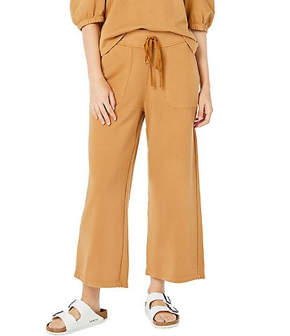 Roller Rabbit Cassia French Terry Elastic High Waist Pull-On Wide Leg Sweatpants