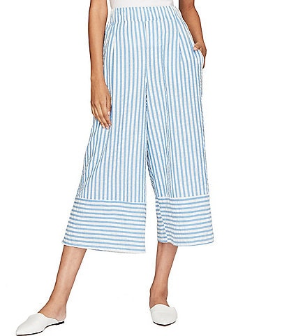 Roller Rabbit Cropped Striped Lur Emani Pull-On Matching Pants