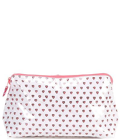Roller Rabbit Hearts Large Makeup Bag