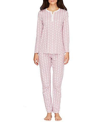 Roller Rabbit Knit Family Matching Elephant Print Henley Pajamas