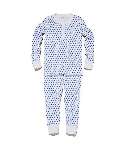 Roller Rabbit Little Girls 2-6 Heart Print 2-Piece Family Matching Pajama Set