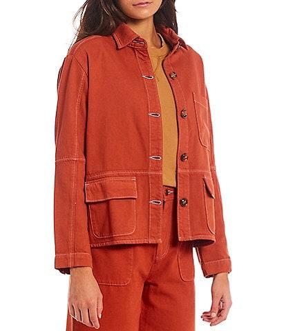 Roller Rabbit Adara Twill Point Collar Long Sleeve Jacket