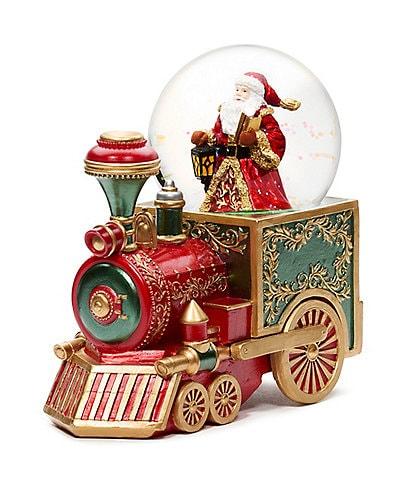 Roman Musical Santa on Train Glitterdome