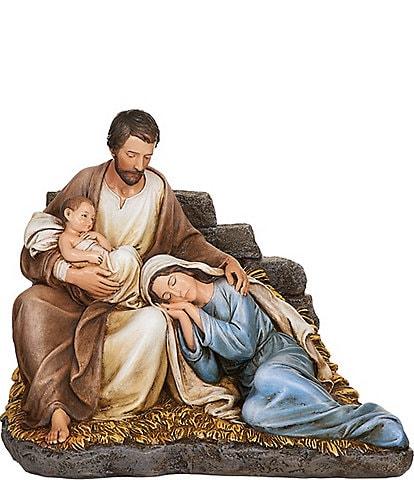Roman Sleeping Mary With Baby Jesus & Joseph Figurine