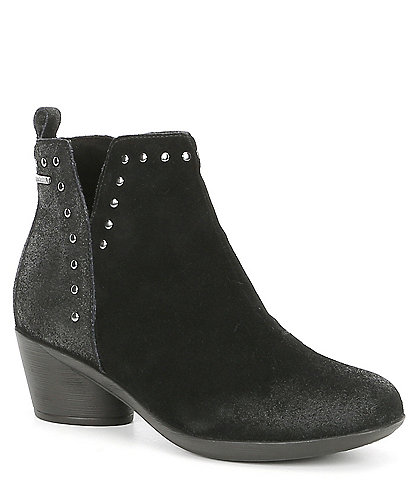 Romika Daisy 01 Waterproof Suede & Leather Block Heel Bootie