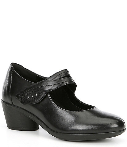 Romika Daisy 9 Leather Block Heel Mary Jane Loafer