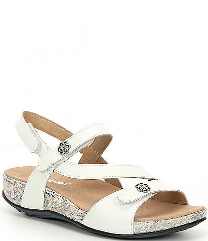 Romika Fidschi 54 Leather Strappy Wedge Sandals