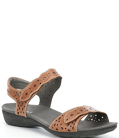 Romika Tahiti03 Leather Laser Cut Detail Sandals