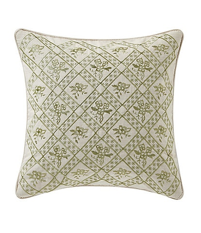 Rose Tree Juliette Embroidered Square Pillow