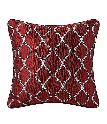 Rose Tree Norwich Ogee Embroidered Square Pillow