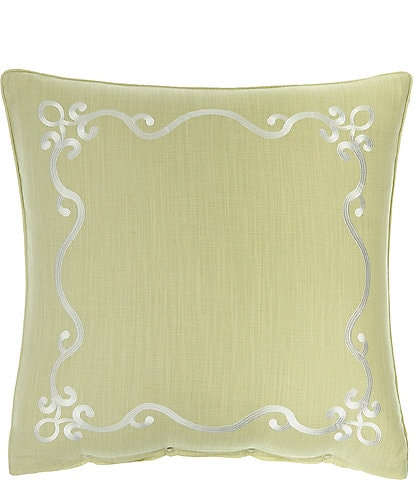 Rose Tree Wexford Green Embroidered and Solid Reversible Euro Sham
