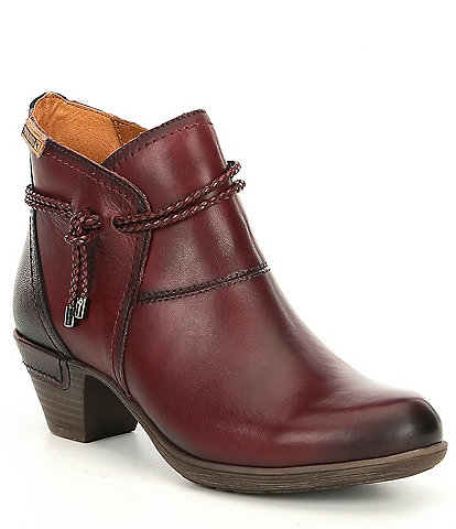 Pikolinos Rotterdam Tassel Leather Block Heel Booties