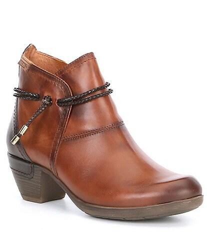 Rotterdam Tassel Leather Block Heel Bootie