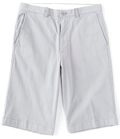 Roundtree & Yorke 13#double; Inseam Flat Front Washed Chino Shorts