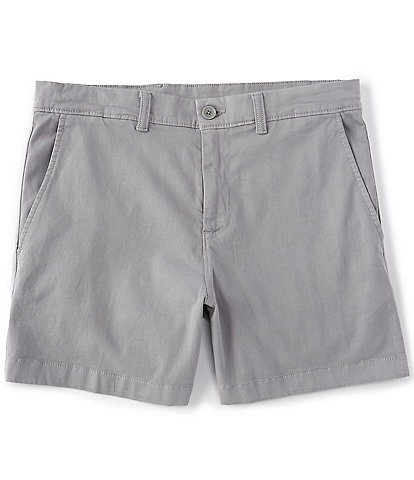 Roundtree & Yorke 5#double; Inseam Flat-Front Washed Chino Short